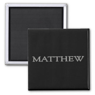 Matthew Personalized Name Square Magnet