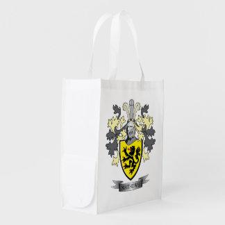 Matthews Family Crest Coat of Arms Reusable Grocery Bag