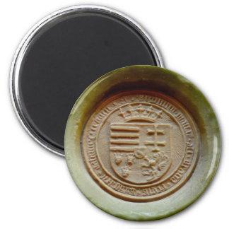 Matthias Corvinus seal budapest museum hungary wax 2 Inch Round Magnet