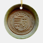 Matthias Corvinus seal budapest museum hungary wax Ceramic Ornament