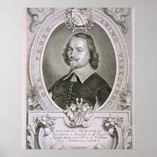 Matthias Mylonius Biorenklou (1607-71) from 'Portr Poster