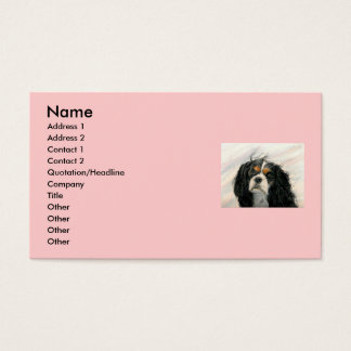 Mattie the King Charles Cavalier Business Card