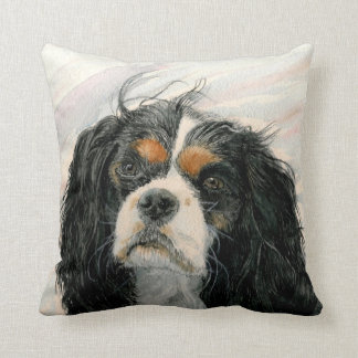 Mattie the King Charles Cavalier Spaniel Throw Pillow