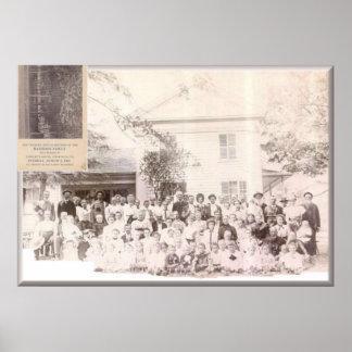 Mattison Reunion 1908 Gains, PA/ Newpaper invite Poster