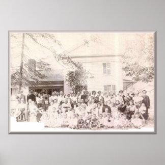 Mattison Reunion 1908 Gains, PA Poster