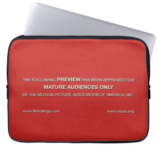 Mature audiences only laptop sleeve