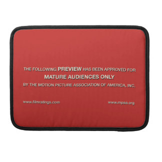 Mature audiences only sleeve for MacBook pro