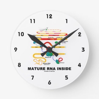 Mature RNA Inside Biology Humor Round Clock