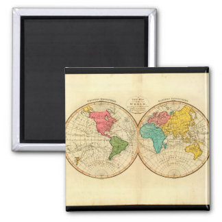 Mature World Map 7_Maps of Antiquity Square Magnet