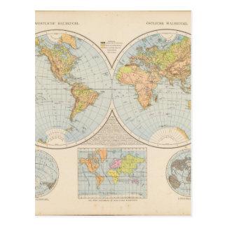 Matured World Map 28 Postcard
