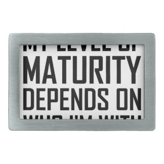 Maturity Level Rectangular Belt Buckles