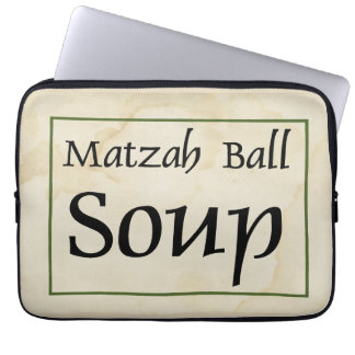 Matzah Ball Soup Laptop Sleeve