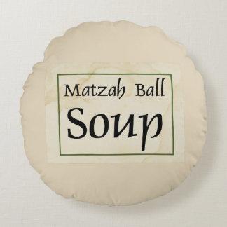 Matzah Ball Soup Round Pillow