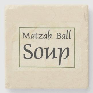 Matzah Ball Soup Stone Coaster