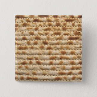 Matzah biscuit flatbread 2 inch square button