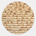 Matzah biscuit flatbread classic round sticker