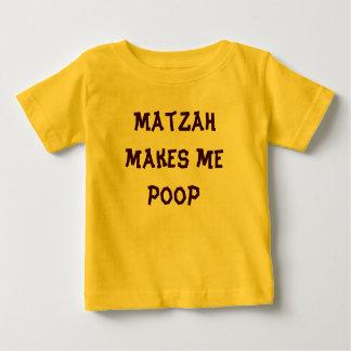 Matzah makes me poop Passover onsesie Baby T-Shirt