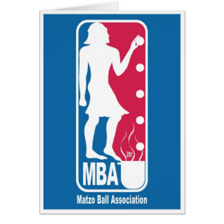 Matzo Ball Association Card for Passover
