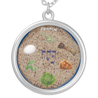 Matzo Seder Plate Necklace
