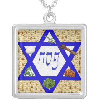 Matzo Star Seder Plate Necklace