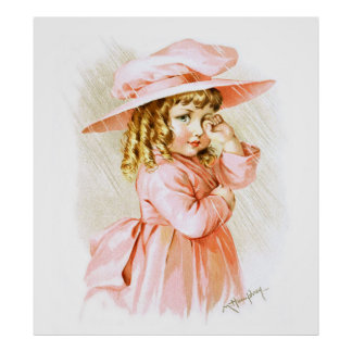 Maud Humphrey: Spring Girl in the Rain Poster