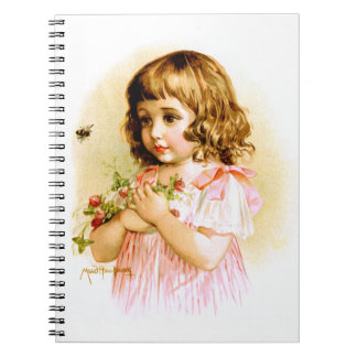 Maud Humphrey: Summer Girl with Flowers and Bee Notebooks