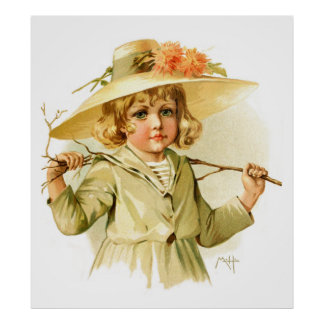 Maud Humphrey: Winter Girl with Branch Poster