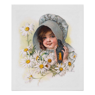 Maud Humphrey's Daisy Girl Poster