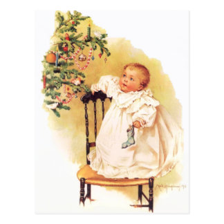 Maud Humphrey's Little Christmas Girl Postcard