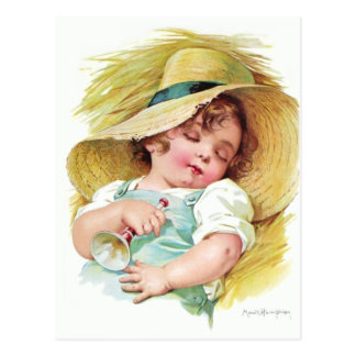 Maud Humphrey's Sleeping Child Postcard