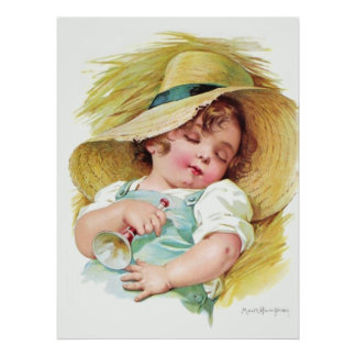 Maud Humphrey's Sleeping Child Poster
