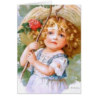 Maud Humphrey's Sweet Little Summer Girl Card