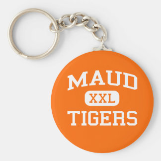 Maud - Tigers - Maud High School - Maud Oklahoma Keychain