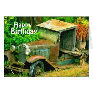 Maui 1936 Plymouth Truck, Birthday Card