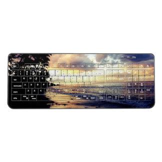 maui beach sunset wireless keyboard