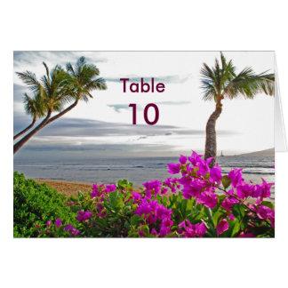 Maui Beach Table Card
