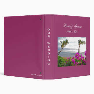 Maui Beach Wedding Binder