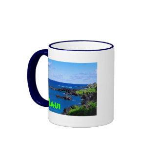 Maui Coastline - Hawaii Ringer Mug