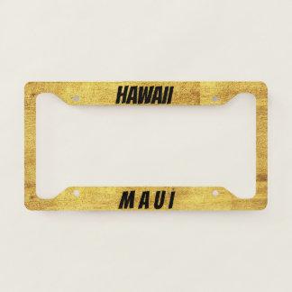 Maui Hawaii Golden License Plate Frame