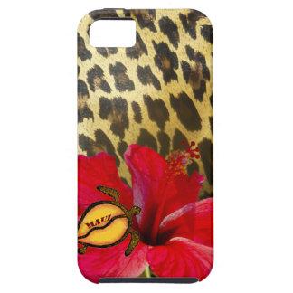 Maui Hawaii on Leopard Fur Print iPhone 5 Case