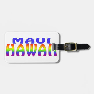 Maui Hawaii rainbow words Luggage Tag