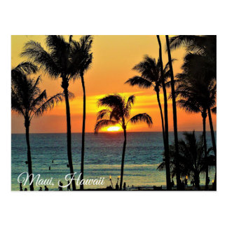 Maui, Hawaii Sunset  Photography Postcard