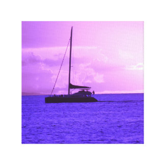 Maui, Hawaii Sunset (Purple) Canvas Print