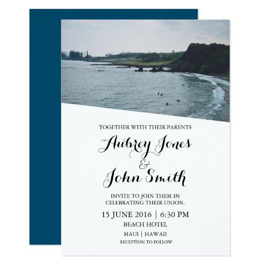 Maui Hawaii Surf Wedding Invitation