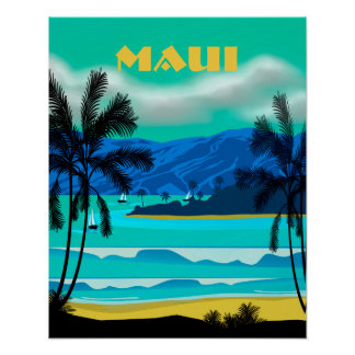 Maui Hawaii Travel Poster