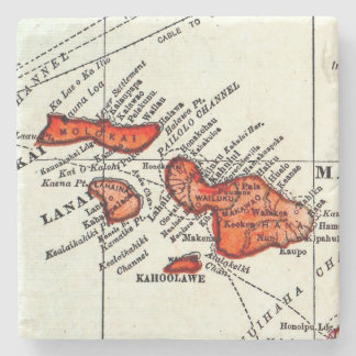 Maui, Lanai, Molokai Hawaiian Islands Stone Stone Coaster