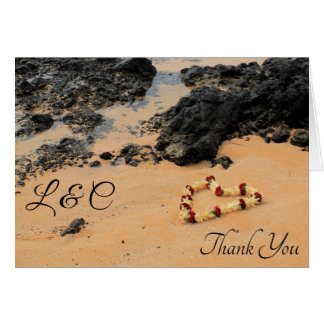 Maui Lei on Secret Beach Thank You Card