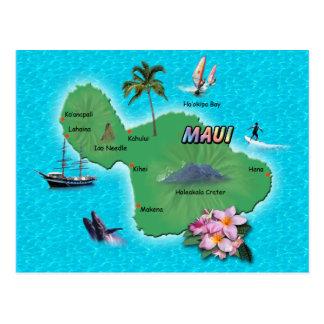 Maui Map Postcard