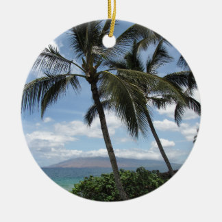 Maui Palm Trees Ceramic Ornament
