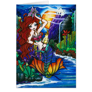 Maui Princess Mermaid Fairy Cockatoo Card